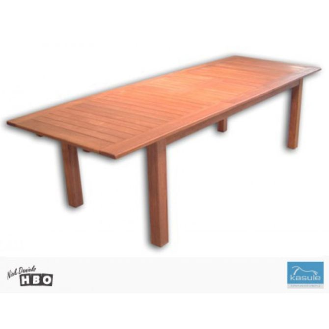 Solid Merbau Timber Outdoor Extension Dining Table